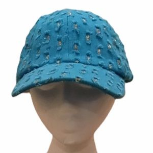 Accessories - Turquoise cap with silver sequins